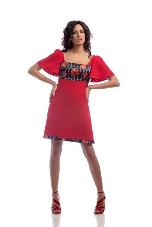 Vestido rojo sensse atelier