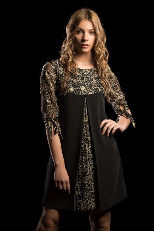 Vestido negro elegante eventos almeria