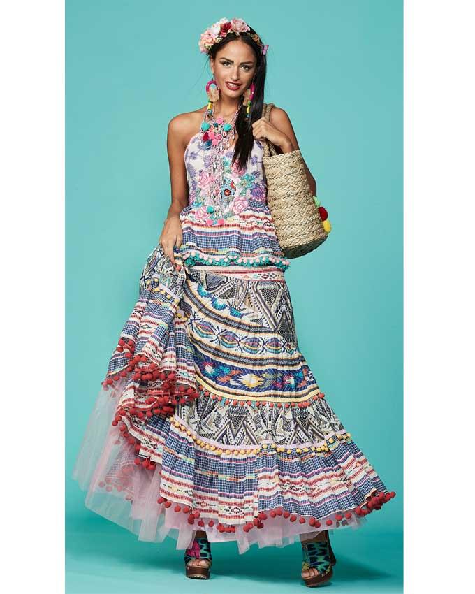Conjunto antica vestido ibicenco