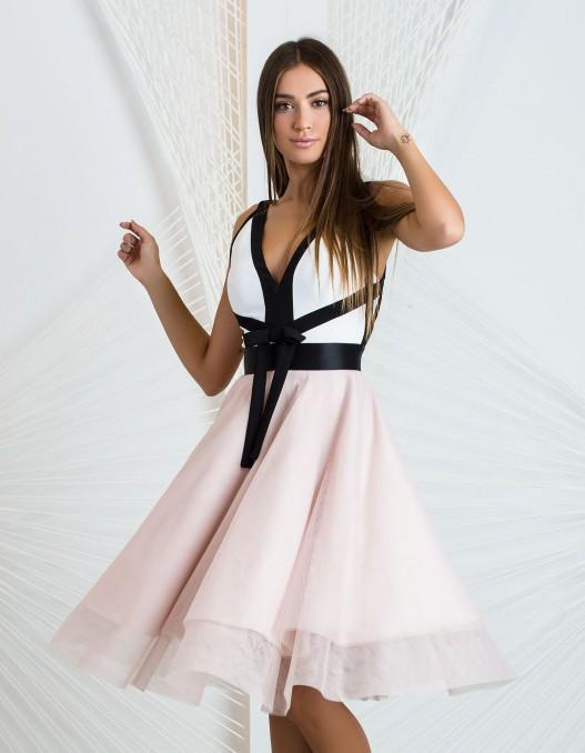 Vestido eventos rosa palo sensse marbella